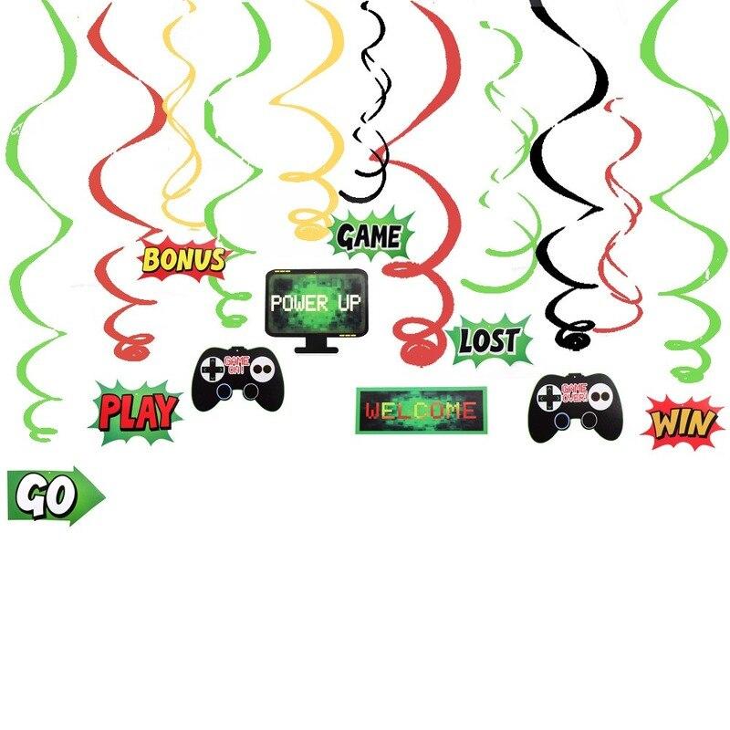 Olevovo тема игры орнамент Висячие вихревые украшения сделай сам спиральный орнамент для детей день рождения видео игры товары для вечеринок