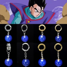 Super Dragon Ball Z végétto Potara bleu fils Gohan Cosplay Costume prop fils Goku boucles doreilles oreille goujon