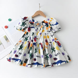 Kids Dress 2021 Lovely Summer Kids Girl Floral Dress Briefs Outfits Clothes Sweet Tutu Party Dresses Summer Girl Clothes