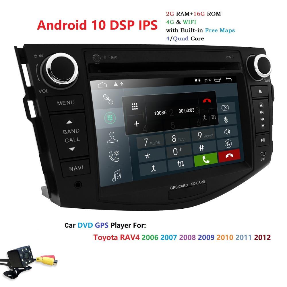 "Ossuret 2 Din 2G + 16G Android 10 reproductor de DVD del coche para Toyota RAV4 1026*400 7 ""Pantalla táctil GPS RDS estéreo 4G Wifi DAB TPMS BT CAM"