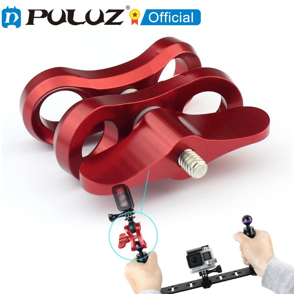 PULUZ-abrazadera de bola para cmara de buceo... abrazadera de resorte de aluminio...