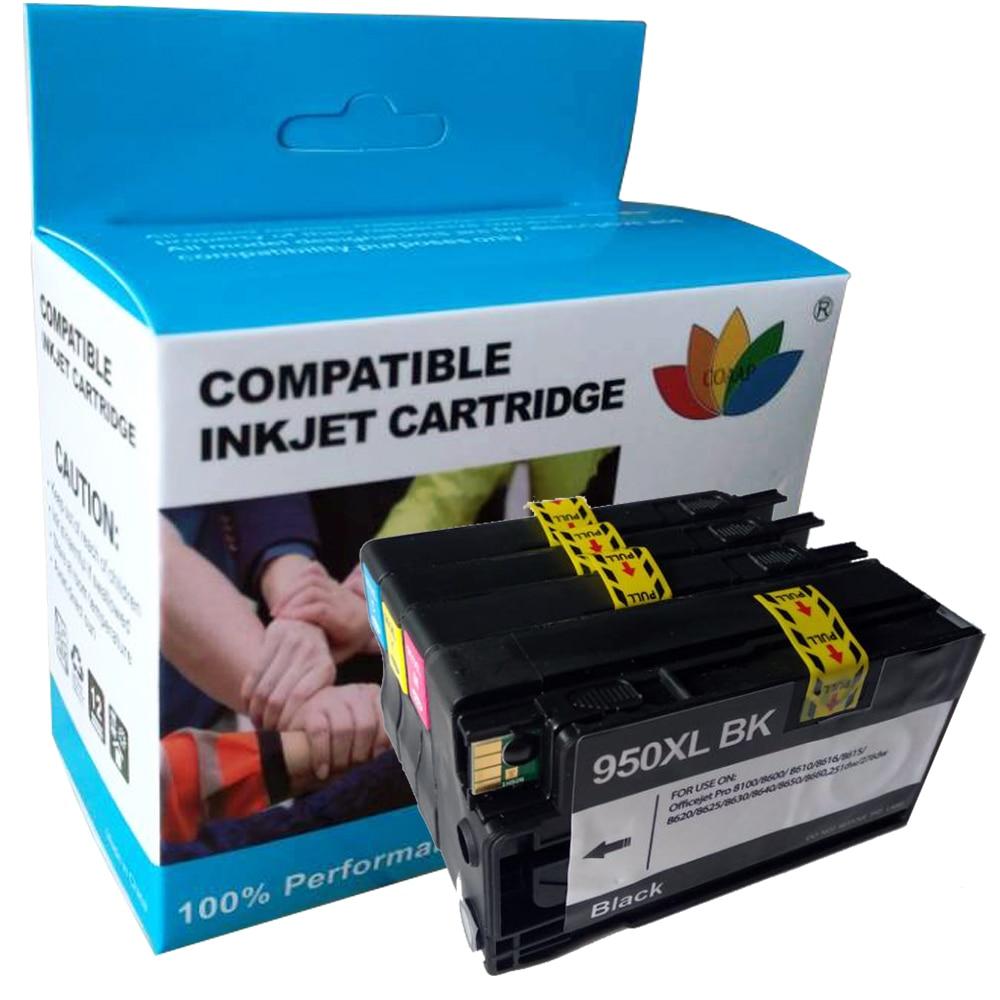 4x Compatible HP 950 951 XL ink Cartridge for 950XL 951XL hp Officejet pro 8100 8610 8620 8630 8600 plus