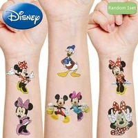 disney mickey minnie mouse original tattoo stickers toys random 1pcs anime figures cartoon kids girls christmas birthday gifts