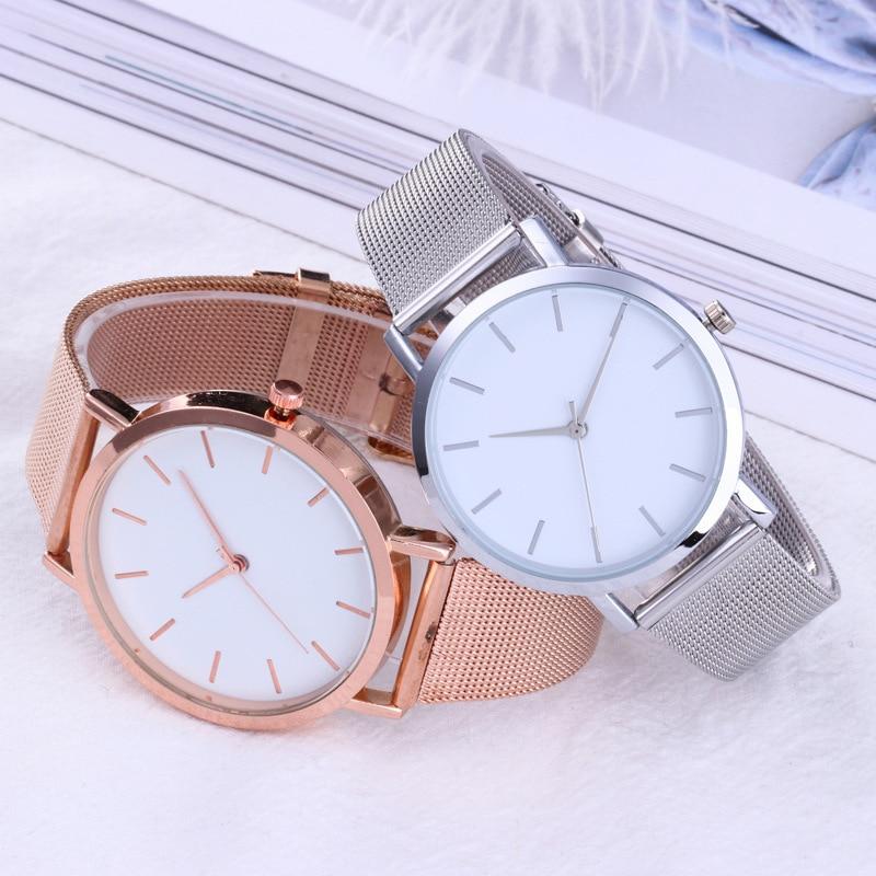 Womens Watches Rose Gold Simple Fashion Women Wrist Watch Luxury Ladies Watch Women Bracelet Clock Quartz Wristwatches