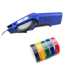 Dymo 1540 3D gaufrage manuel étiqueteuse 1540 manuel étiquettes imprimantes pour 9mm en plastique étiquette bandes main facile à bricolage étiquette