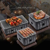 portable bbq japanese style grill grill table top barbecue stove japanese food charcoal stove with wire rack and base tray