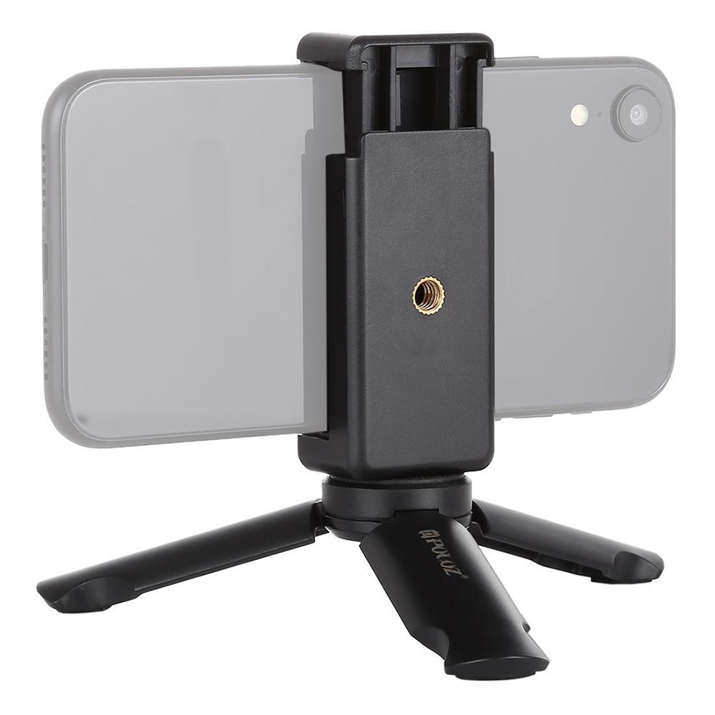 Soporte portátil para teléfono móvil Mini plegable multifunción pequeño pinza trípode soporte para teléfono móvil soporte de Clip Dropship