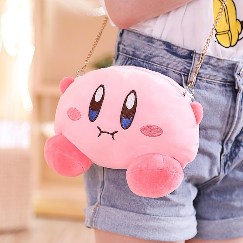 Bolsas de peluche Kirby juego de anime Kirby Popopo lindo juguete de felpa bolso de hombro muñeca cosplay para niña regalo suministros de fiesta