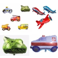 1pc cartoon car and airplane aluminum foil balloon birthday party decorations kids adult fighting airplane baby shower balloons