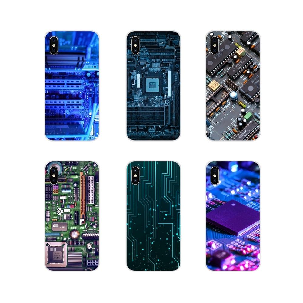 Transparent TPU Cover Bag Circuit Motherboard Computer For Samsung Galaxy J1 J2 J3 J4 J5 J6 J7 J8 Plus 2018 Prime 2015 2016 2017