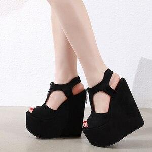 Fashion New Women's Shoes 17cm High Heels Platform Slope Heel Open Toe Versatile Women's Sandals