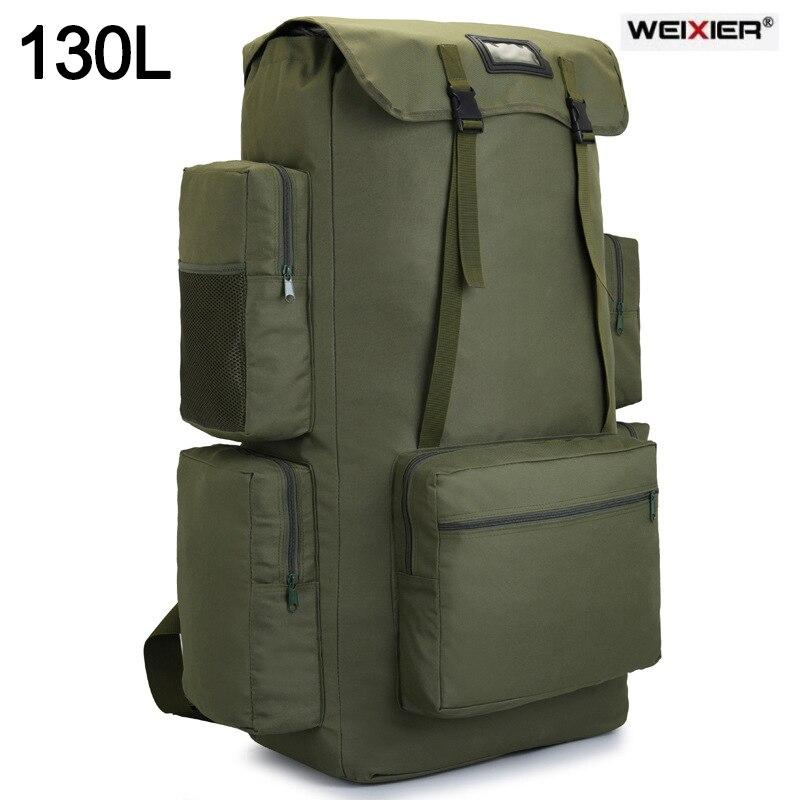 110L 130L الرجال حقيبة ترحال التخييم على ظهره كبيرة الجيش في الهواء الطلق تسلق الرحلات حقيبة للسفر أكياس التكتيكية الأمتعة حقيبة Mochila