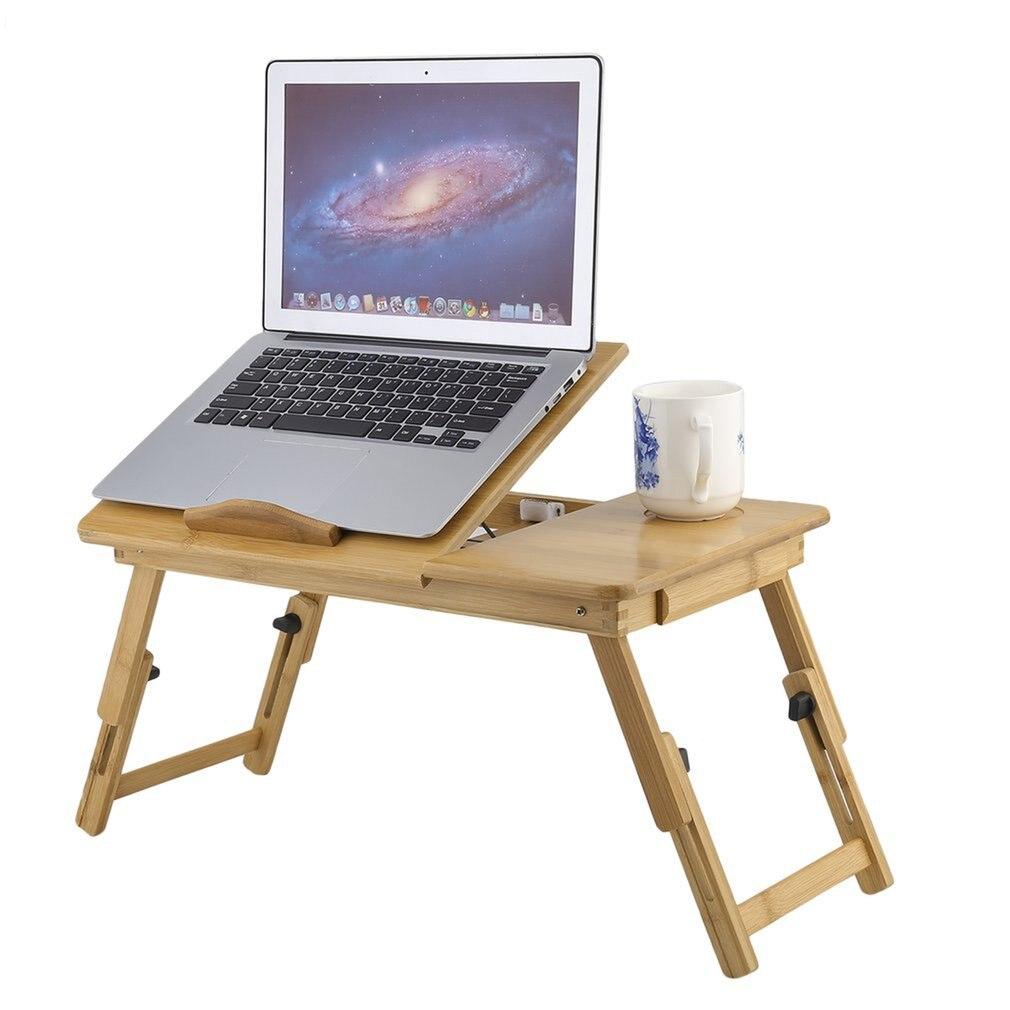 Mesa plegable clásica de bambú para ordenador portátil, soporte para sofá, escritorio, Notebook, mesa de cama plegable
