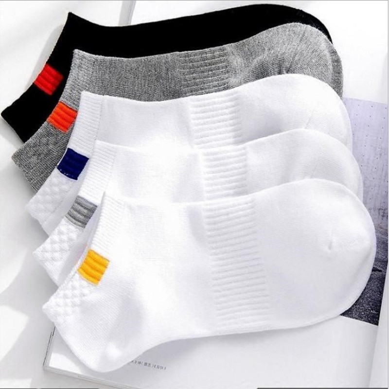 10 штук = 5 пара/лот летние хлопковые мужские короткие носки Модные дышащие носки-башмачки удобные повседневные мужские белые Лидер продаж