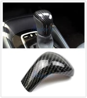 for toyota corolla 2019 carbon fiber color front hand shift gear knob cover panel chrome car styling accessories