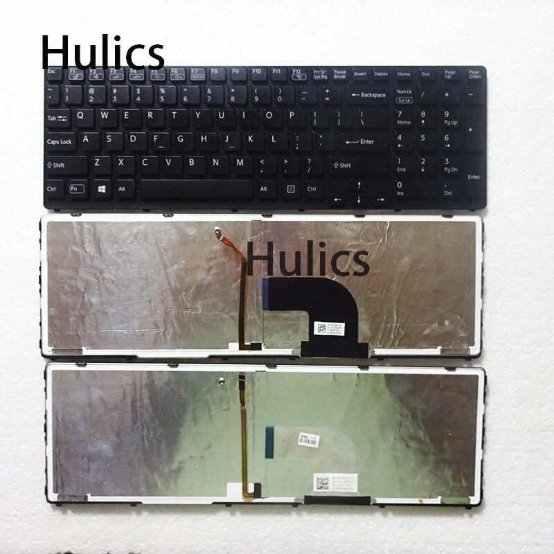 Hulics تستخدم الأصلي لوحة المفاتيح لابتوب سوني SVE17 SVE1711 SVE1712 SVE1713 SVE1712L1E MBX-267 149150811US مع الخلفية