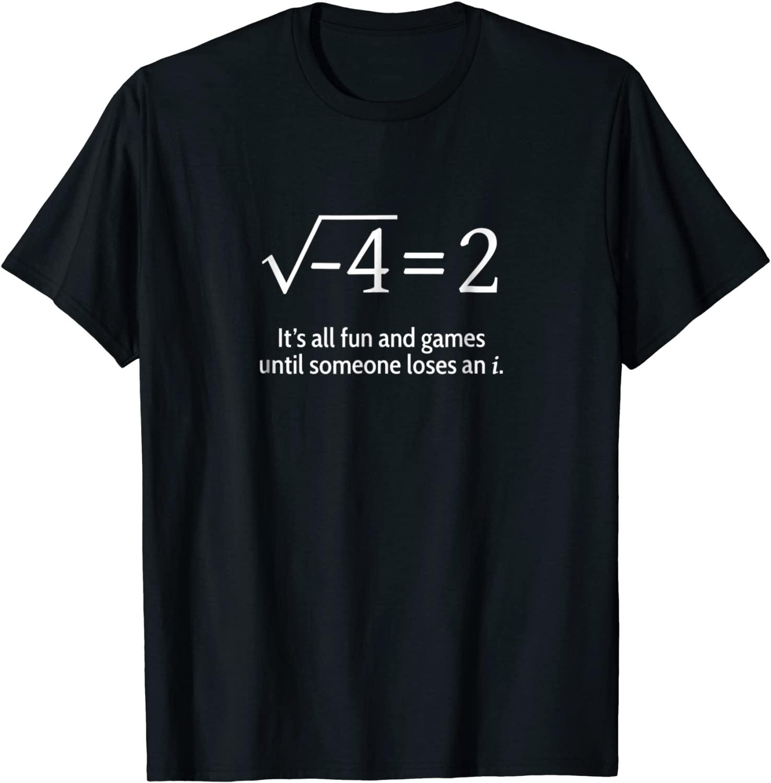 Кто-то проигрывает забавную математическую футболку i: