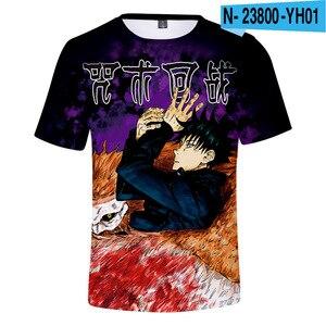 Anime Jujutsu Kaisen 3D Personality Print T Shirt Women/Men's Streetwear Hip Hop Kpop Cosplay boy/girls Tops Summer Tee