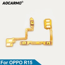 Aocarmo For OPPO R15 PACM00 Power On/Off Volume Up/Down Button Flex Cable Replacement Parts