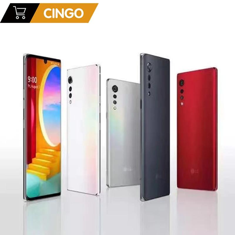Перейти на Алиэкспресс и купить Оригинальный без блокировки LG бархат Корейская версия LM-900N 5G Snapdragon 765 6,8 дюймов экран отпечатков пальцев Оперативная память 6G R0M 128GB LG G9