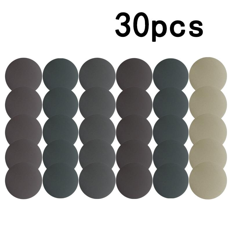 Наждачные диски 125 мм, 800/1000/1200/1500/2000/3000 Грит, 5 дюймов, для влажной и сухой шлифовки, инструменты для полировки, 30 шт.