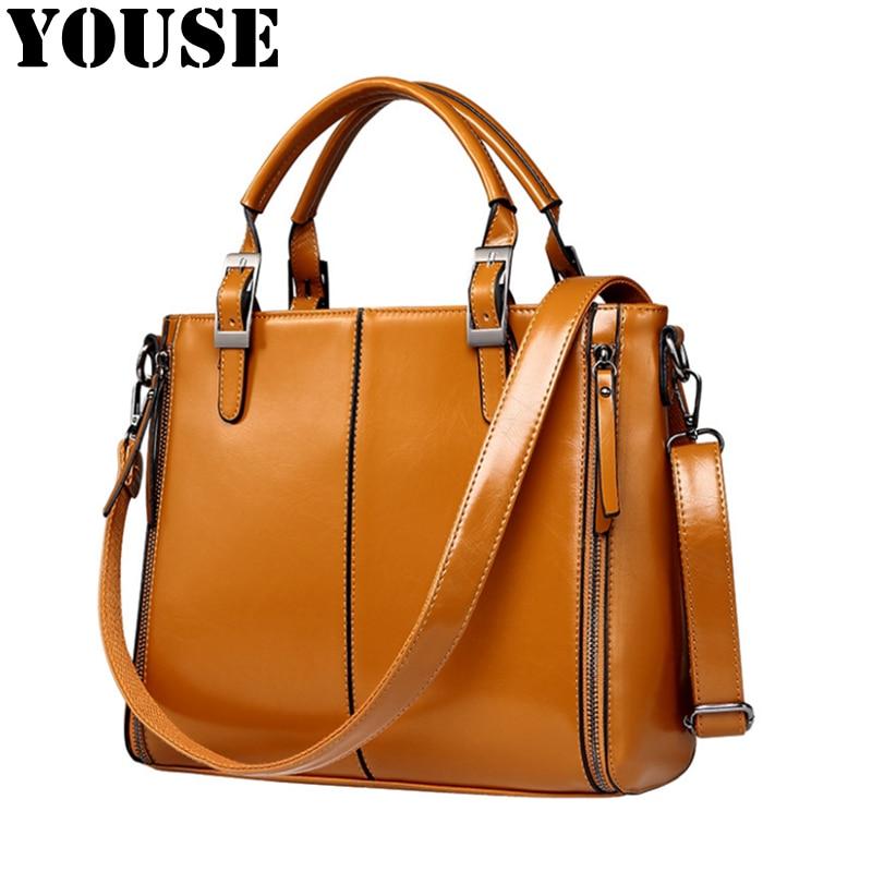 YOUSE-حقيبة يد جلدية مع شمع الزيت للنساء ، إكسسوار عصري متعدد الاستخدامات ، كتف واحد ، DM0088 ، مجموعة جديدة 2020