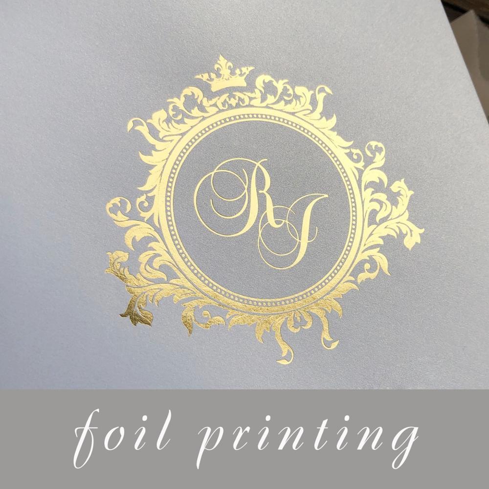 Foil print for envelope