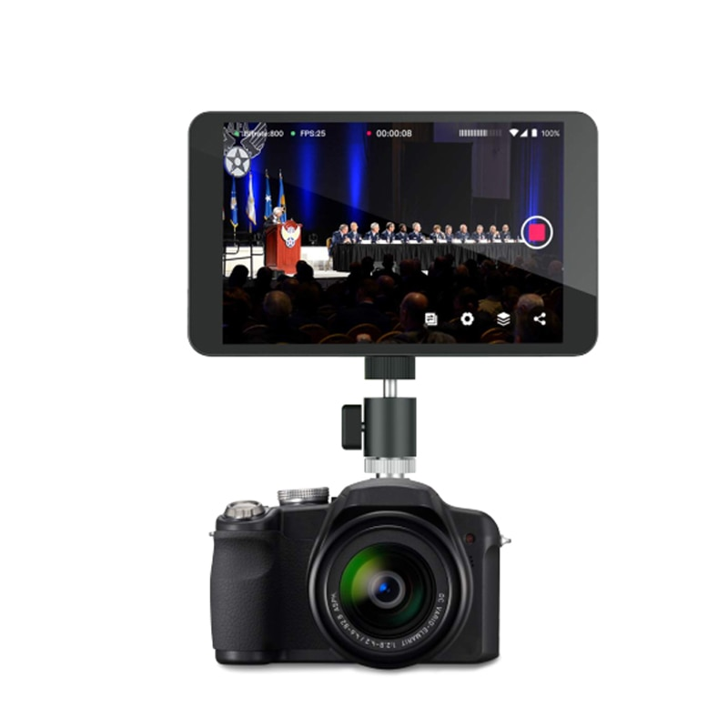 Yolo Box Broadcast live streaming box with 7 inch touch- screen can share to Youtube, Facebook, with free Moza mini Stabilizer