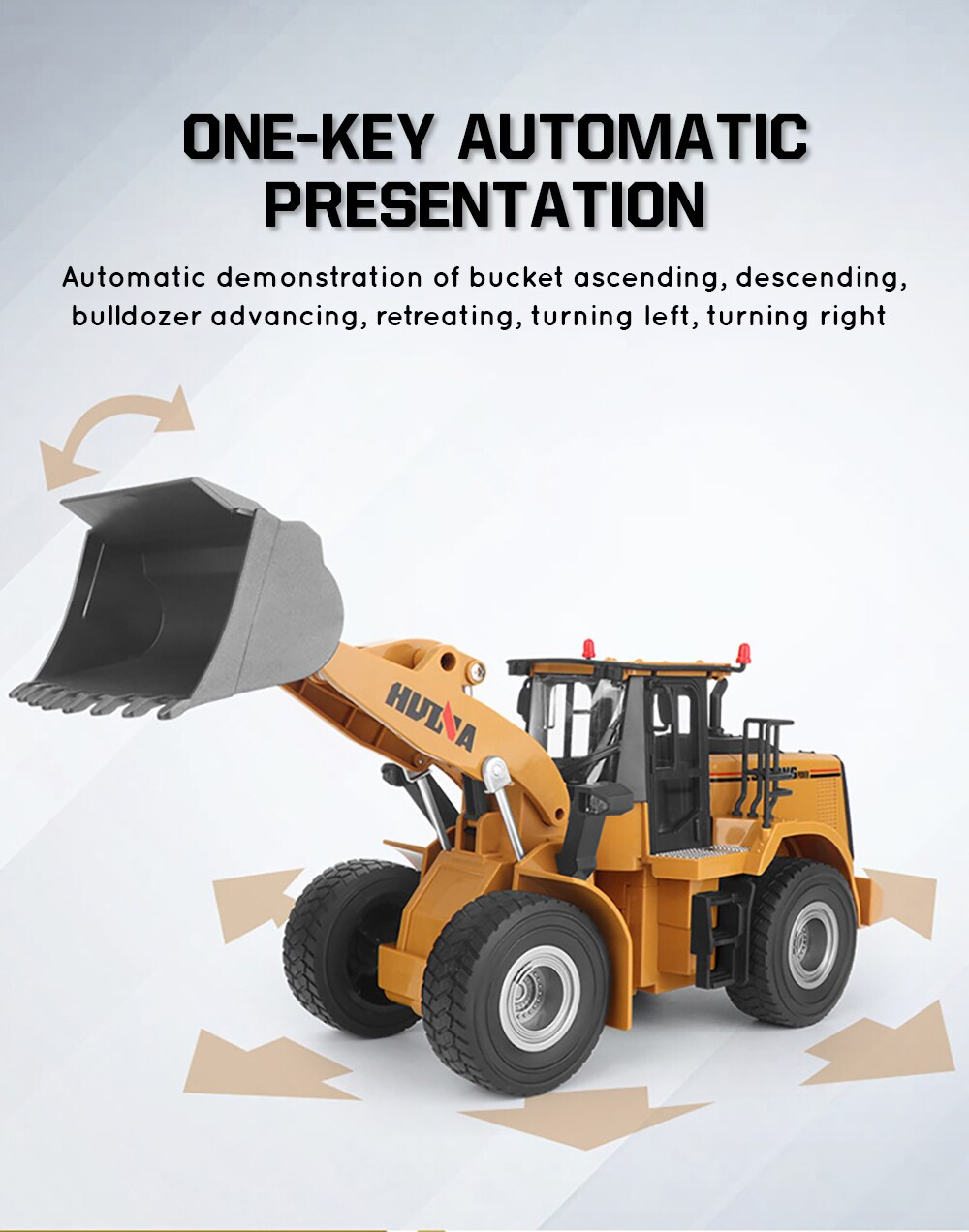 HUINA 567 1/16 RC Truck Tractor Toy Caterpillar RC Engineering Car Model Toys for Boys Kid Gift RC Dumper Bulldozer Excavator enlarge
