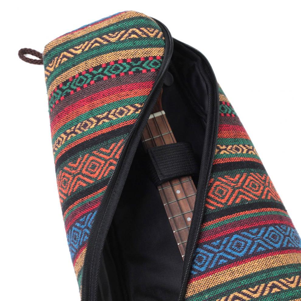 Ukulele Bag  21 / 23 Inch Universal Bohemia Style Knitted 10mm Cotton Soft Case Gig Portable Shoulder Backpack  Guitar Bags enlarge