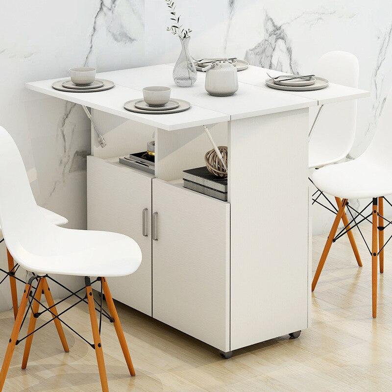 الشمال طاولة طعام قابلة للطي وكرسي مزيج الحديثة بسيطة تقليد حقيقي موبايل متعدد الوظائف أثاث طاولة العشاء
