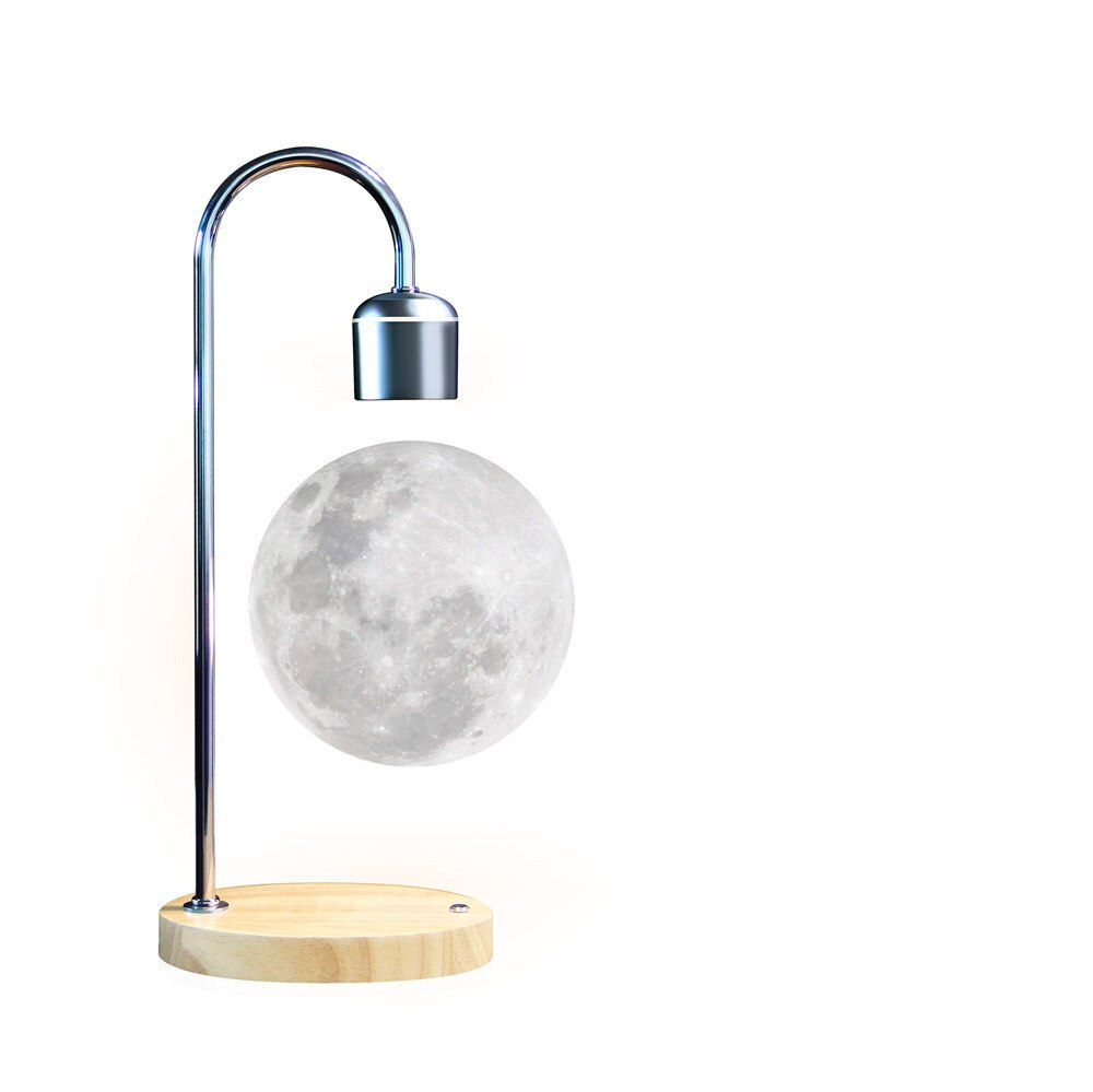 Floating Moon Lamp Levitates Light Magnetic Levitating Flotation Bulb Led Globe Levitation Balance Switch Desk Table 3d Night enlarge