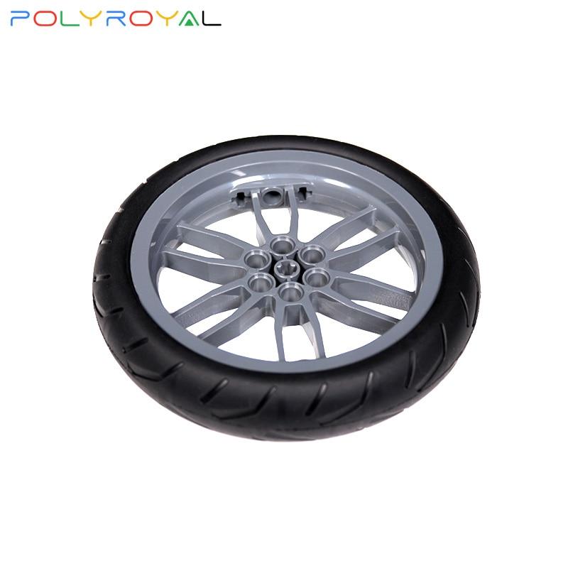 Blocos de construção acessórios diy técnica peças moc 94.2x17mm 1 pçs pneu fora de estrada carro roda de couro compatível monta partículas