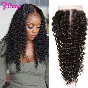 4x4 Kinky Curly Human Hair Closure 4X4 Lace Closure 100% Human Hair Closure Brazilian Straight Lace Closure T Part Lace Closure