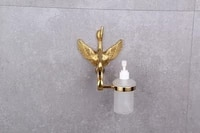 free ship ti pvd gold finish bathroom accessories swan crystal soap dispensers new