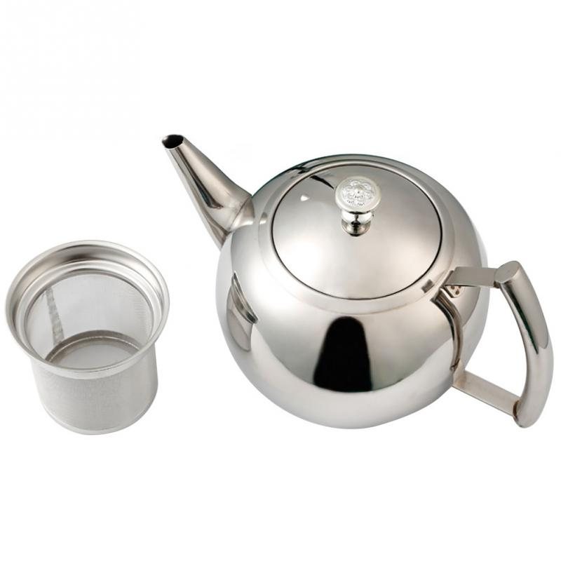 Teaware extraíble con colador café Oficina Kung Fu mango lateral de té de acero inoxidable de gran capacidad Durable Hotel tetera agua
