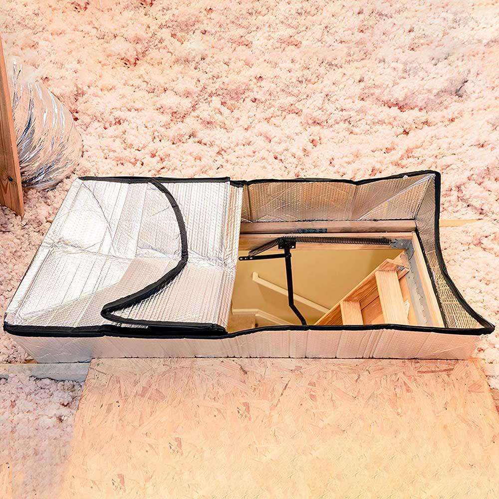 Cobertura de isolamento à prova de fogo da barraca do sótão cobertura da porta do sótão isolador escada sótão cobertura de isolamento para casa