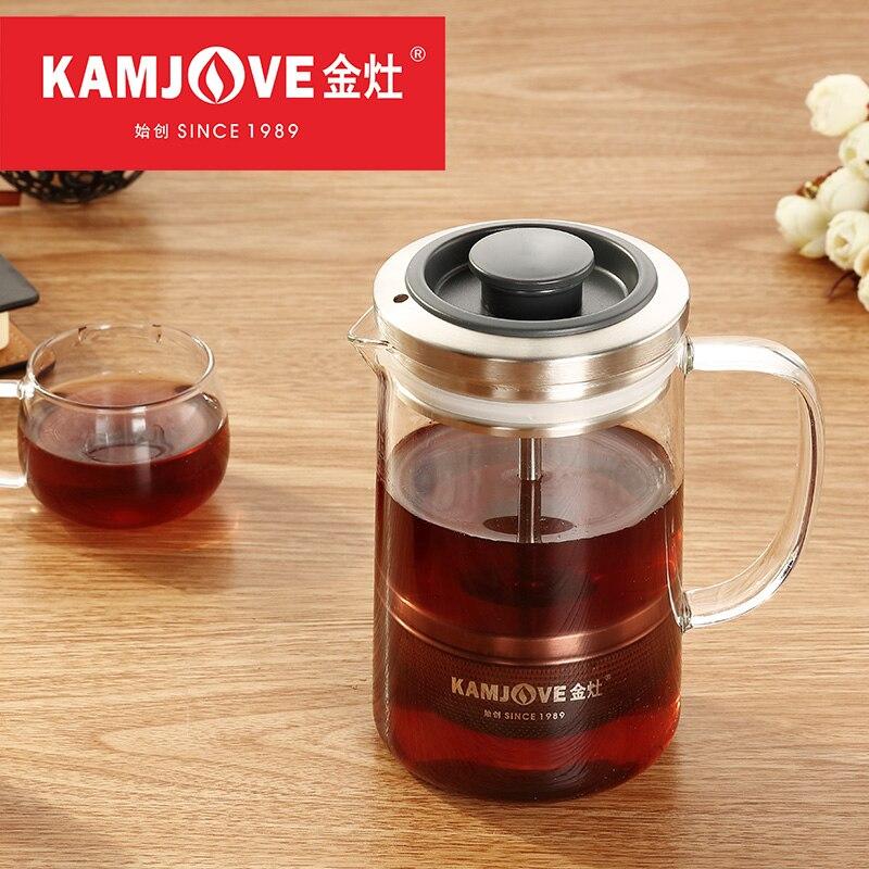 Kamjove-إبريق شاي ضغط للقهوة ، إبريق شاي فرنسي ، Pu-erh ، برتقالي ، A75 ، A76 ، 380 مللي ، 560 مللي