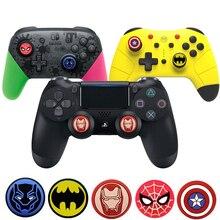 Marvel Hero Batman Thumb-Stick Grip Cap Stick Joystick Abdeckung Fall Für Sony PS3 PS4 Dünne Xbox One 360 Schalter pro Controller