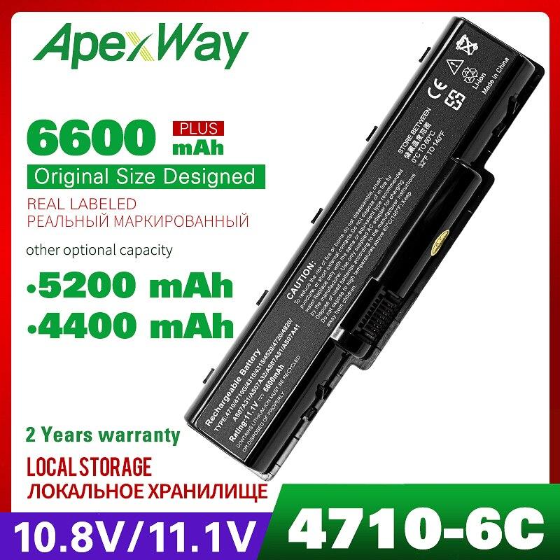 11,1 v batería para Acer 4710 AS07A31 5338 de 5517 a 5536G 5541G 5732Z 5732ZG 5734Z 5735Z 5738DG 5740DG 7715Z para Emachine D525 D725