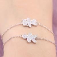 2018 new 100 925 sterling silver boy girl figure charm bracelet with clear crystal cz for men women girl trendy jewelry