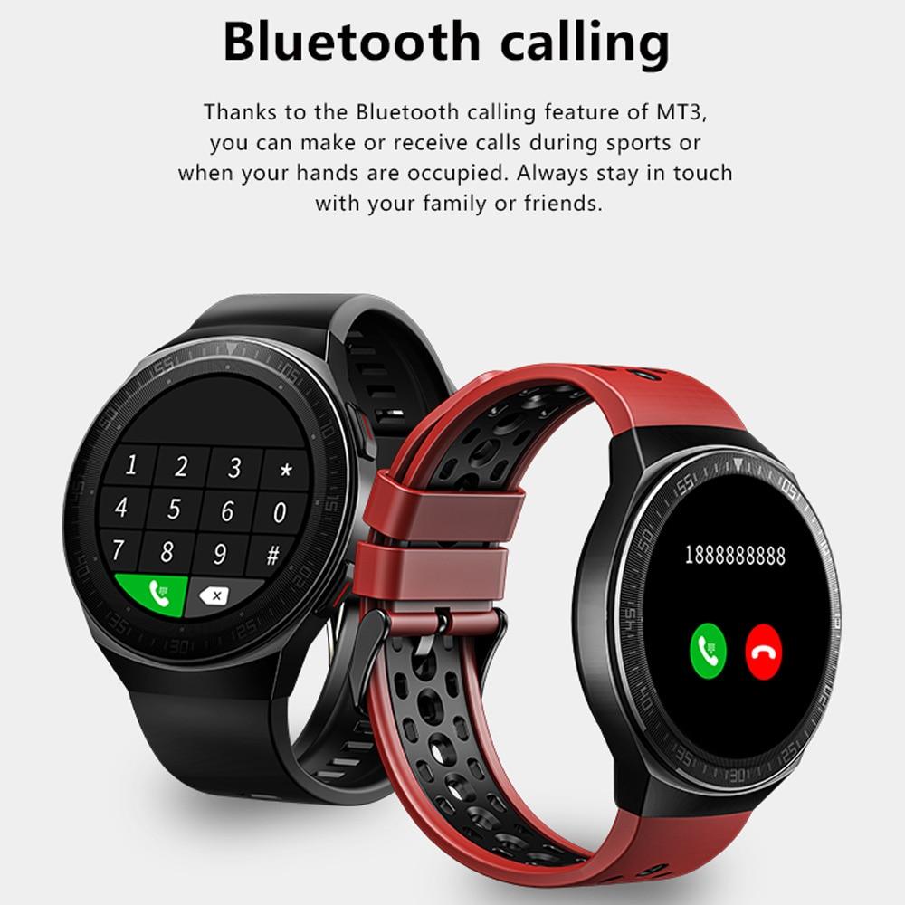 MT-3 8G Memory Music Smart Watch Men Bluetooth Call Full Touch Screen Waterproof Smartwatch Recording Function Sports Bracelet