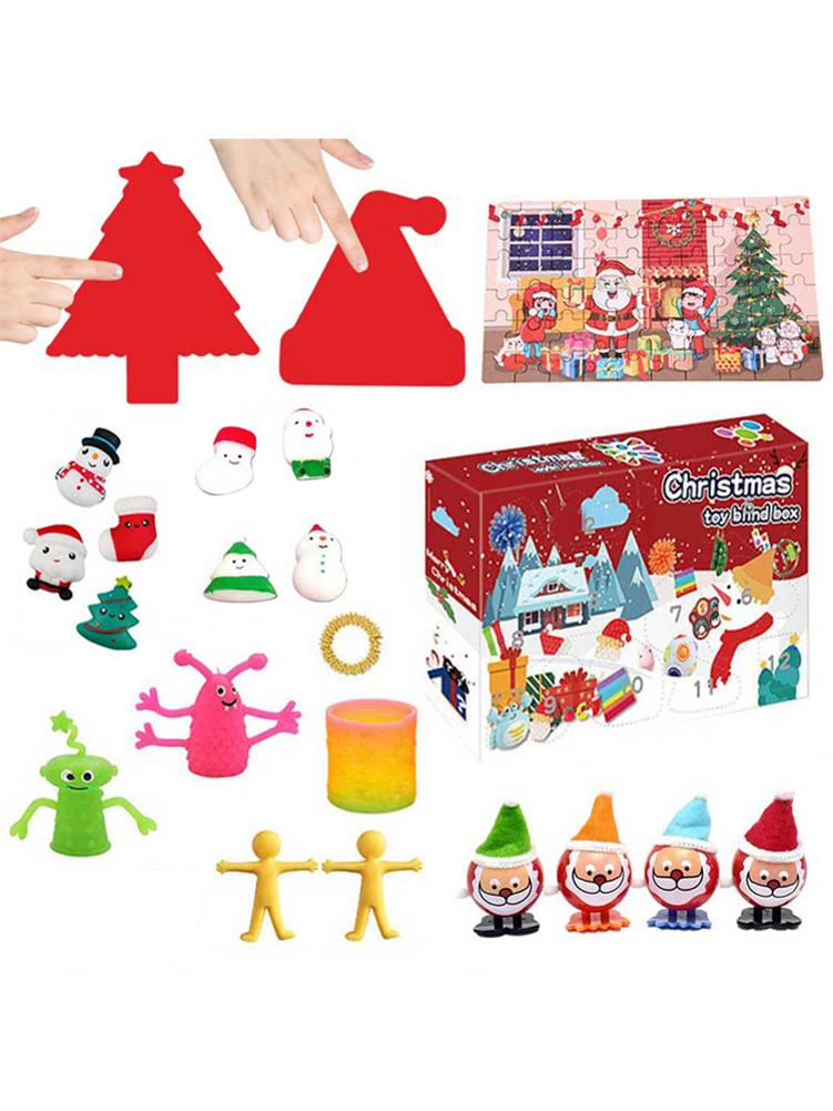 24 PCS Christmas 24 Days Countdown Calendar Advent Gift Box Hand Tear Box Countdown Toy Santa Claus Advent Gift Toy fennell clare santa s 12 days of christmas