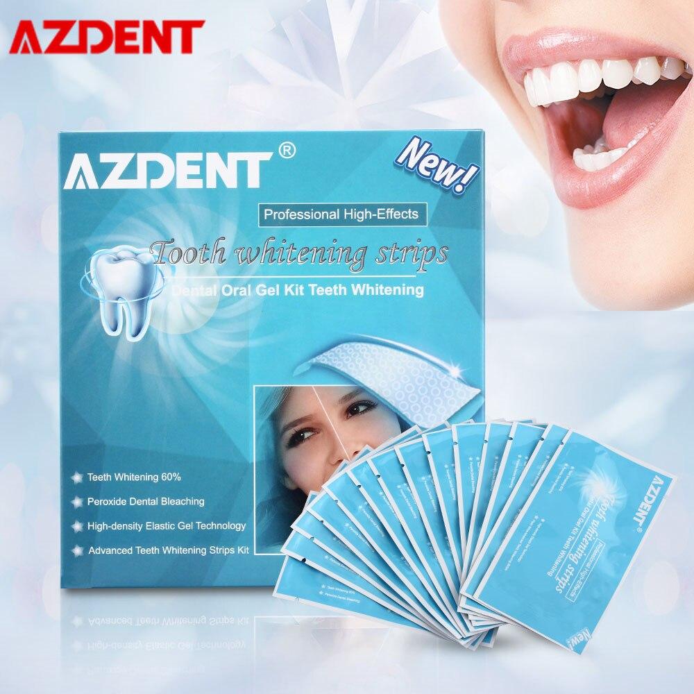 Bandes de blanchiment des dents AZDENT hygiène buccale outils de blanchiment des dents essentiels bandes de blanchiment dentaire 28 pièces/14 paires bandes plus blanches