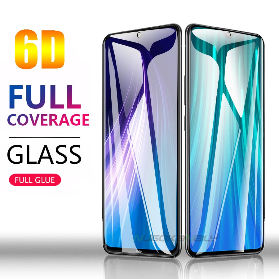6D Full Cover Glue Tempered Glass for Xiaomi Redmi Note 8 Pro 8T Screen Protector for Xiaomi Redmi Note8 Protective Film Guard