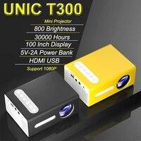 Unic     mini projecteur de cinema pour la maison  led t300  lecteur multimedia  support video 1080p  portable  vs yg300 hd