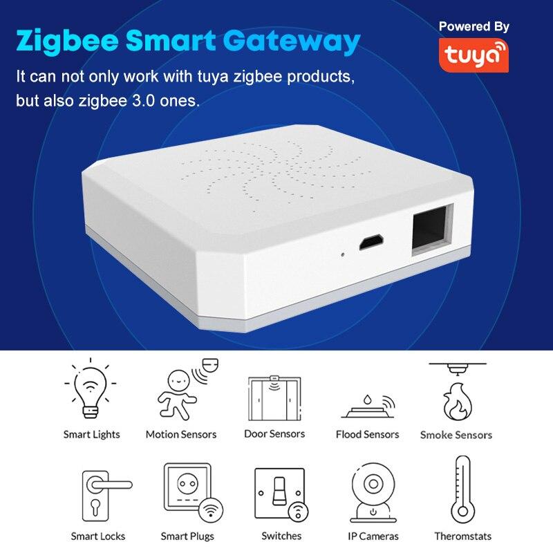Tuya Wifi زيجبي الذكية بوابة المحور المنزل الذكي جسر الحياة الذكية APP السلكية اللاسلكية تحكم عن بعد العمل مع أليكسا جوجل الرئيسية