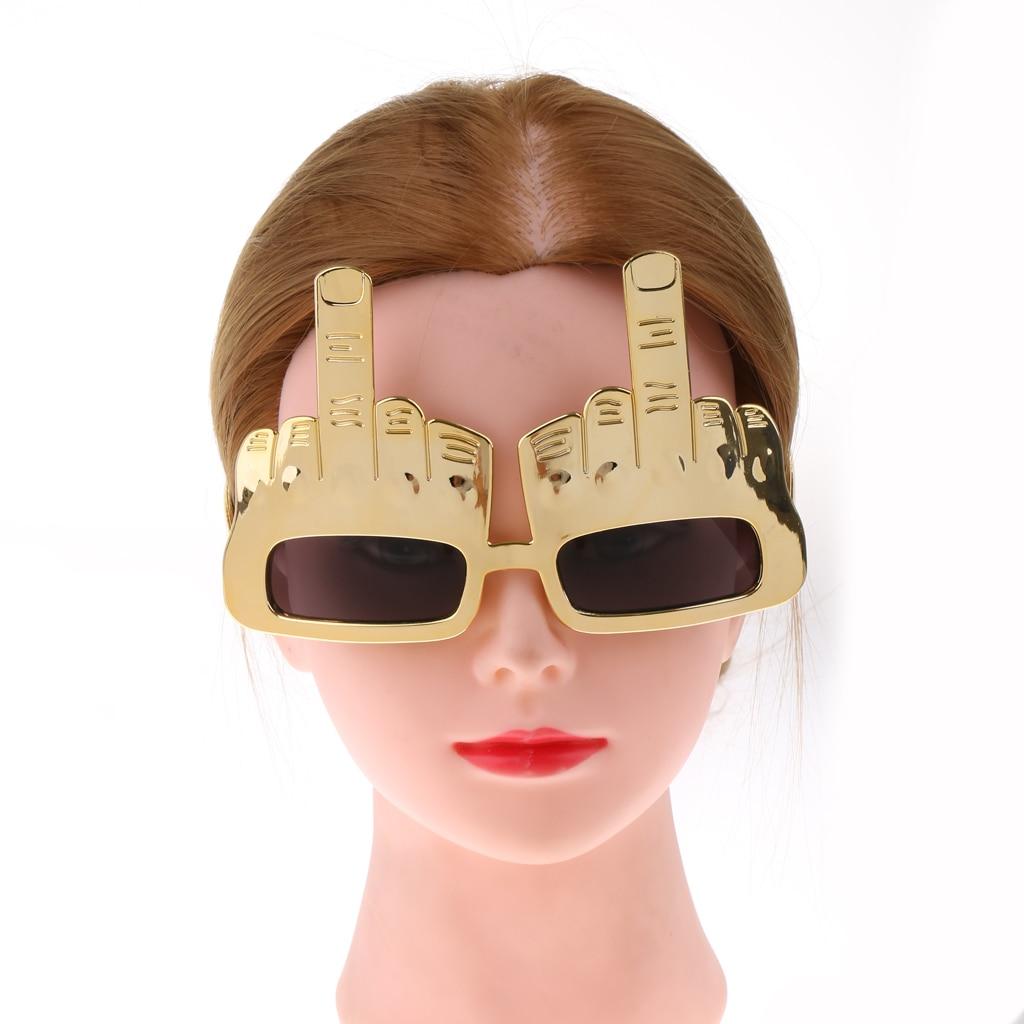 Śmieszne okulary przeciwsłoneczne środkowy palec gest Eyegalsses Party zabawa zrobić element ubioru