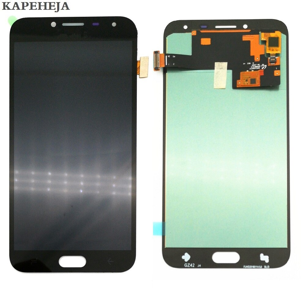Super AMOLED LCD pantalla para Samsung Galaxy J4 J400 pantalla LCD de montaje de digitalizador con pantalla táctil