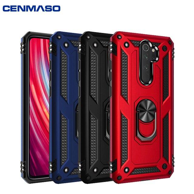 Rojo mi nota 8 Pro 8 caso armadura magnético coche para Xiaomi mi nota 10 9 A3 Lite 9T rojo mi nota 7 8 K20 7A K30 POCO X2 caso